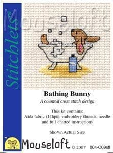 Mouseloft Bathing Bunny Stitchlets cross stitch kit
